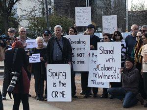 Protest in Canberra 12 September 2018