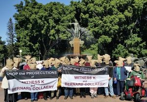 Demonstration at Archibald Fountain, Sydney